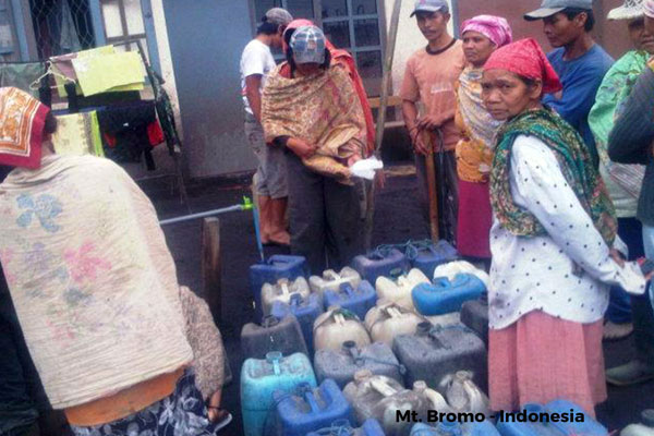 Bantuan pasca meletusnya gunung Bromo, Jawa Timur